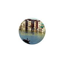 Venice Italy Souvenir Gondola Ride Pho Mini Button