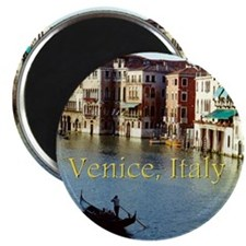Venice Italy Souvenir Gondola Ride Photo Magnet
