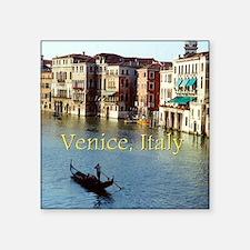 """Venice Italy Souvenir Gondo Square Sticker 3"""" x 3"""""""