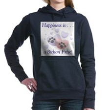 happinessbichonf.png Hooded Sweatshirt
