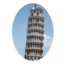Leaning Tower of Pisa Italy Souvenir Oval Ornament