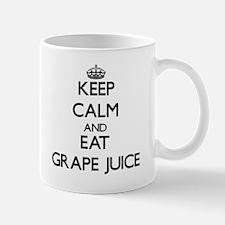 Keep calm and eat Grape Juice Mugs