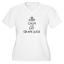 Keep calm and eat Grape Juice Plus Size T-Shirt