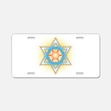 Colorful Star Aluminum License Plate