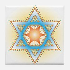 Colorful Star Tile Coaster