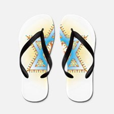 Colorful Star Flip Flops
