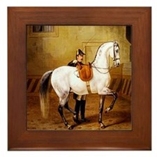 Andalusian Horse Framed Tile