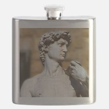 Famous David Statue in Florence Italy Flask