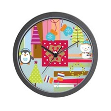 Christmas Quilt Wall Clock