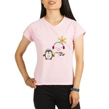 Cute Snowman and Penquin Performance Dry T-Shirt