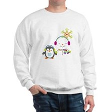 Cute Snowman and Penquin Sweatshirt