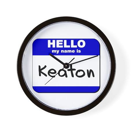 hello my name is keaton Wall Clock