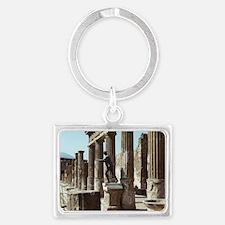 Apollo Statue Pompeii Italy Sou Landscape Keychain