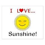 I Love Sunshine Small Poster