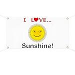 I Love Sunshine Banner