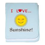 I Love Sunshine baby blanket