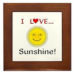 I Love Sunshine Framed Tile