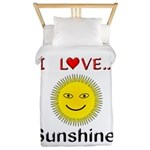 I Love Sunshine Twin Duvet