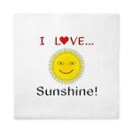I Love Sunshine Queen Duvet