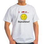 I Love Sunshine Light T-Shirt