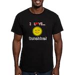 I Love Sunshine Men's Fitted T-Shirt (dark)