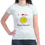 I Love Sunshine Jr. Ringer T-Shirt