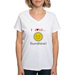 I Love Sunshine Women's V-Neck T-Shirt