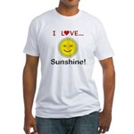 I Love Sunshine Fitted T-Shirt