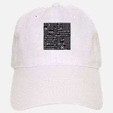Binary in Black White Baseball Baseball Baseball Cap
