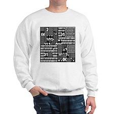 Binary in Black White Sweatshirt