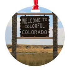 Welcome to Colorful Colorado Road S Ornament