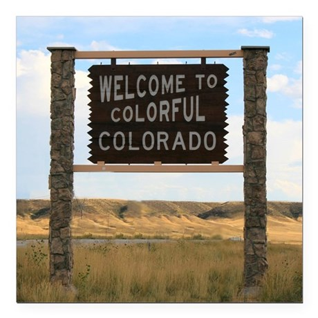 """Welcome to Colorful Colo Square Car Magnet 3"""" x 3"""""""