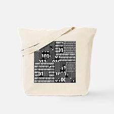Binary in Black White Tote Bag