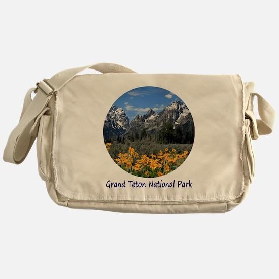 Grand Tetons National Park in Spring Messenger Bag