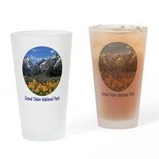 Grand Tetons National Park in Sprin Drinking Glass