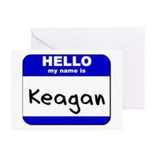 hello my name is keagan  Greeting Cards (Package o