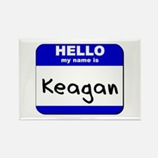 hello my name is keagan Rectangle Magnet