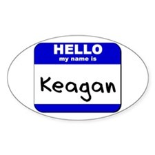 hello my name is keagan Oval Decal