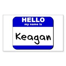 hello my name is keagan Rectangle Decal