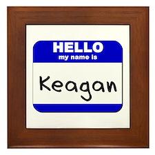 hello my name is keagan  Framed Tile