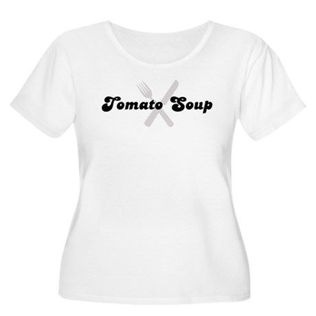 Tomato Soup (fork and knife) Women's Plus Size Sco