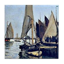 Monet: Sailing Boats at Honfleur Tile Coaster