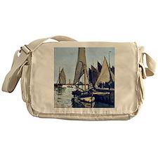 Monet: Sailing Boats at Honfleur Messenger Bag