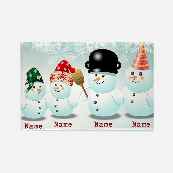 Customizable Snowmen Magnets
