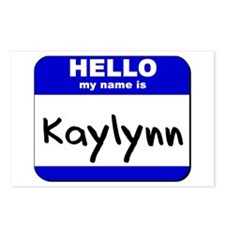 hello my name is kaylynn  Postcards (Package of 8)