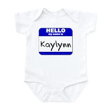 hello my name is kaylynn  Infant Bodysuit