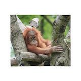 Orangutan Fleece Blankets