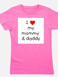 lovemymommyanddaddy.png Girl's Tee