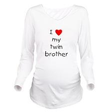lovemytwinbro.png Long Sleeve Maternity T-Shirt