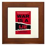 War Is A Lie Framed Tile